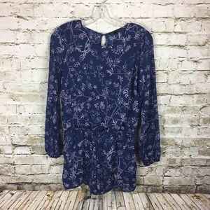 Lucca Couture blue floral romper